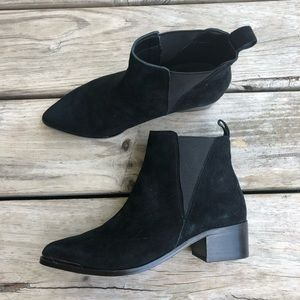 Steve Madden Anella Black Suede Booties